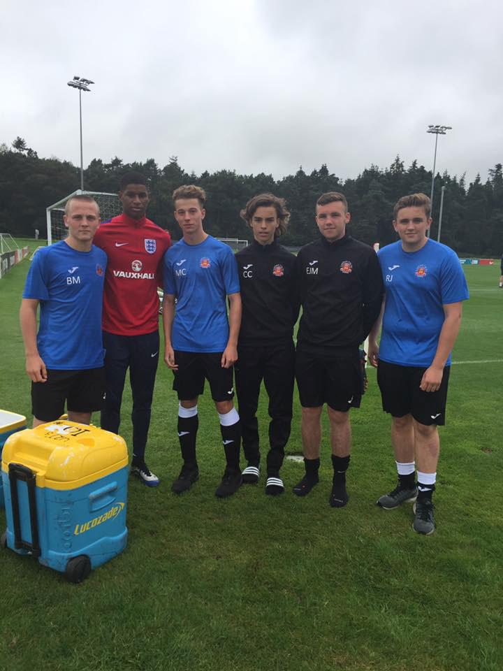 MARCUS RASHFORD supporting lichfield City FC Academy