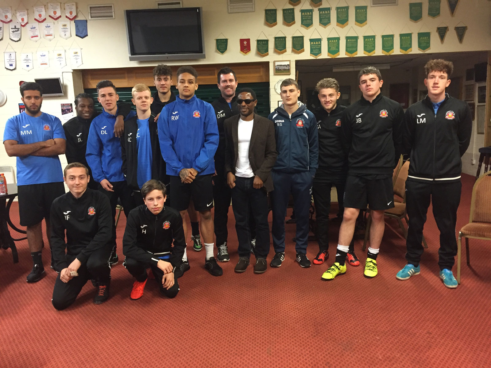 Olympic Blind footballer supports the Academy students