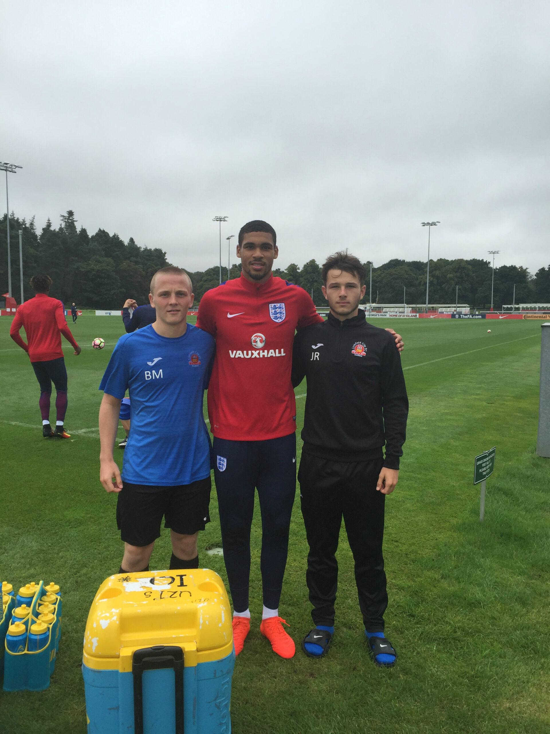 Next Lichfield City Football Club Academy - The Academy Students meet Chelsea star